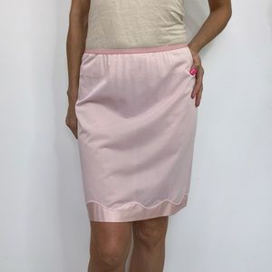 Vintage 70s Vanity Fair Light Pink Nylon Half Slip
